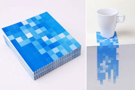 Pixel Coasters Let You Punch Your Design Out