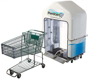 PureCart Sanitizes Grocery Shopping Carts