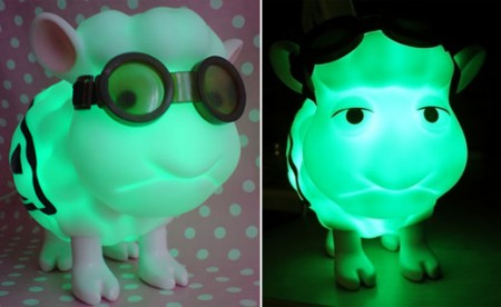 Seamour The Goggle Wearing Radioactive Sheep USB Lamp