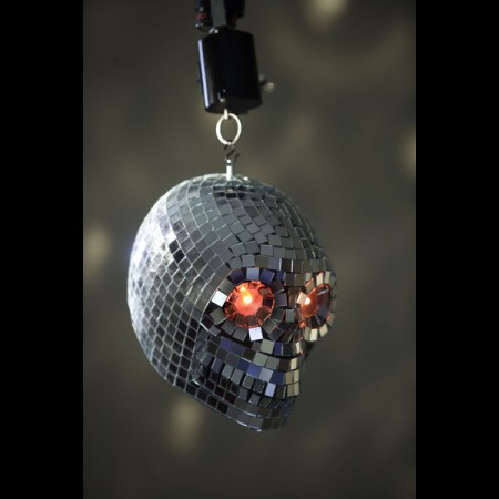 Skeleton Disco Ball- Scarier than a '70's Disco Outfit