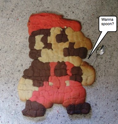 Supersized Super Mario Cookie