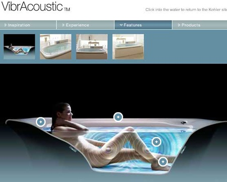 vibracoustic Kohler VibrAcoustic the Vibrating Music Playing Light Up Bathtub