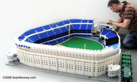 Yankee Stadium Made of Legos