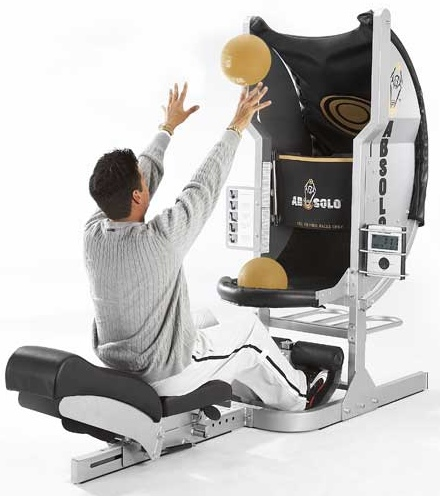 AbSolo Combines an Ab Workout with Basketball into One Machine