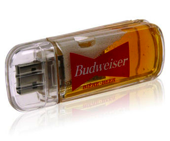 Budweiser Beer Filled USB Drive