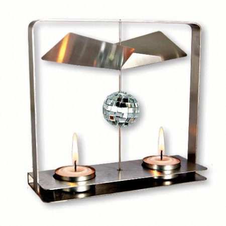 Candle Powered Rotating Disco Ball