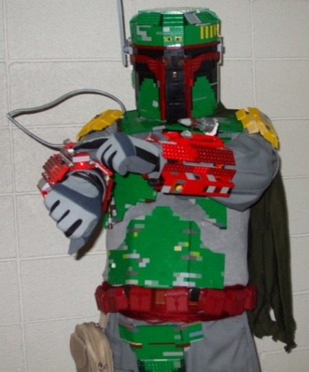 lego fett 450x541 Lego Boba Fett Costume is a Triumph in Brickgineering