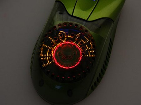 USB Airflow Mouse with LED Messaging