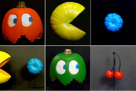 Pac Man Painted Pumpkins for your Perfect Party