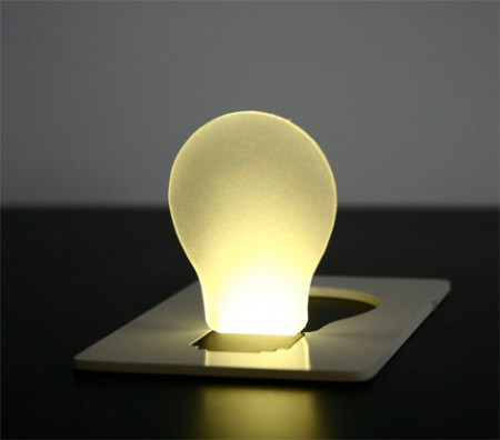 Pop Up Light as Thin as a Credit Card