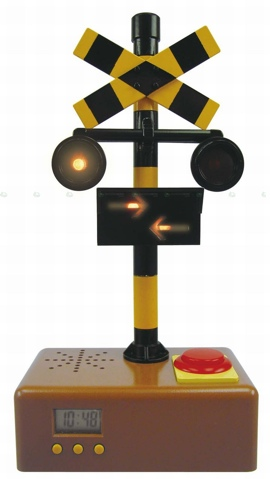 If this Railroad Crossing Alarm Clock Doesn't Wake You, You Might be Dead
