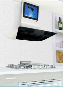 Range Hood with Built in LCD TV