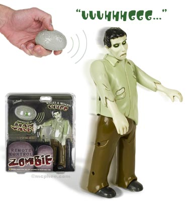 Remote Control Moaning Zombie Action Figure