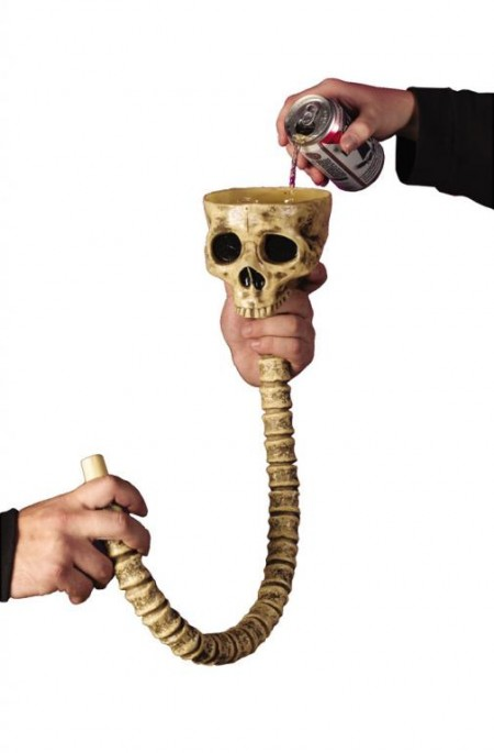 Skull Beer Funnel for Quickest Halloween Drunkedness