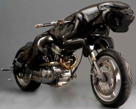 Awesome Cat Motorcycle