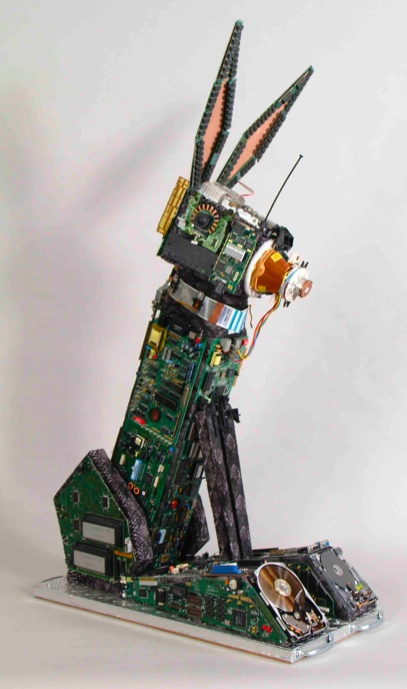 Old Computer Innards Repurposed as Animal Art