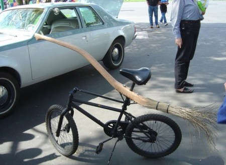 Witches Broomstick Bicycle
