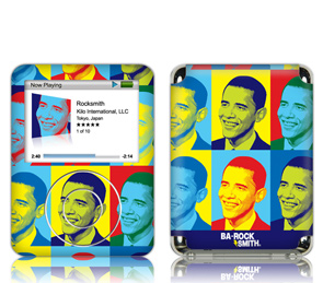 Ba-Rock Out with Barack Obama iPod Skins
