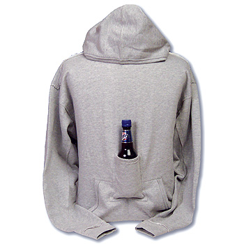 Hoodie with Built in Beer Holding Pouch