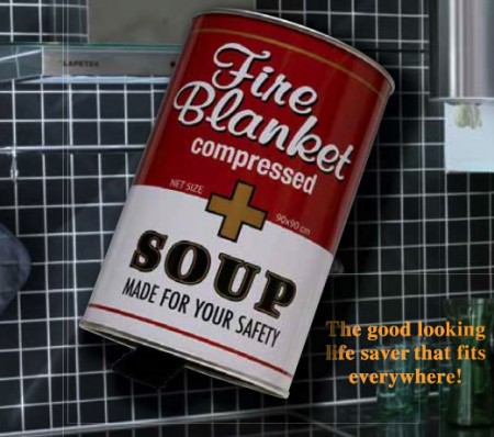 Fire Blanket in a Soup Can