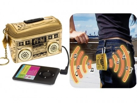 Mini Boombox Coin Purse iPod Speaker