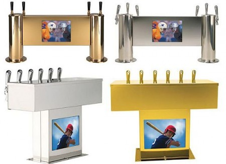 Beer Tap System with LCD TV