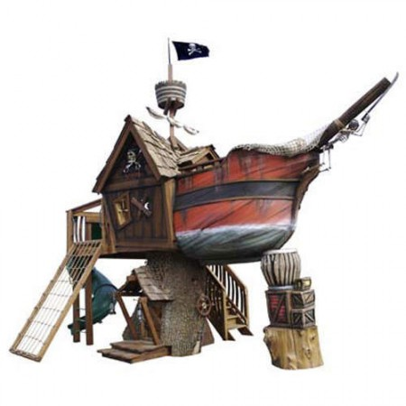 pirate ship treehouse 450x450 $27,000 Pirate Ship Treehouse Might Just be Overkill