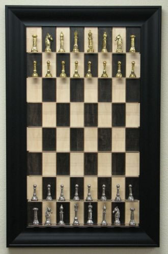 Vertical Chess Board Mounts on your Wall