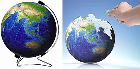 3D Globe Puzzle Looks Hard