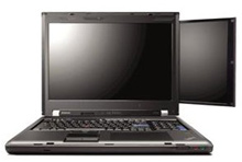 ThinkPad W700 Laptop with a 10.6 Inch Attached Second Screen