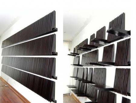 Fold Down Expandable Wall Shelving System