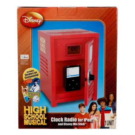 High School Musical Locker Shaped iPod Dock Alarm Clock