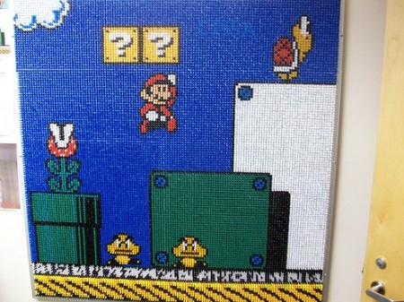 Incredible 17,000 Thumbtack Mario Bros. Artwork