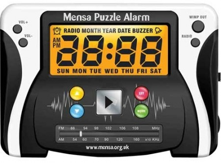 mensa puzzle alarm clock 450x332 Mensa Puzzle Alarm Clock Takes a Genius to Turn It Off