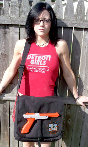 NES Duck Hunt Zapper Messenger Bag