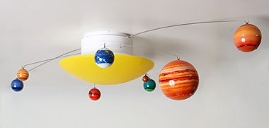 Rotating Planets Ceiling Light
