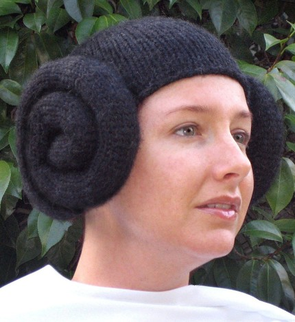 Princess Leia Knit Ski Hat Wig