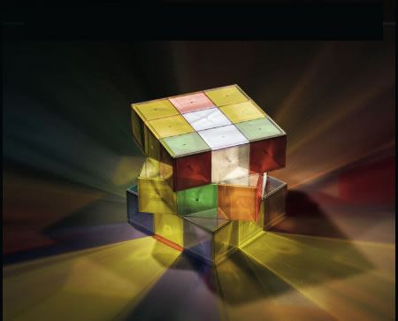 Rubik's Cube Lamp is Puzzling