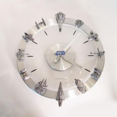 Awesome Star Wars Ships Clock