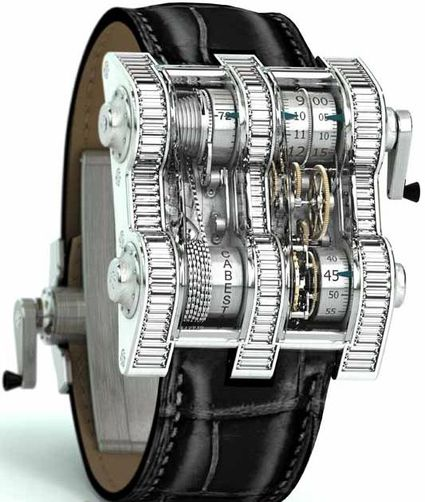 The Insane Cabestan Winch Tourbillion Vertical Watch