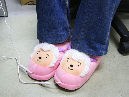 USB Powered Heated Sheep Slippers