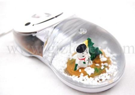 USB Snowman Snowglobe Mouse
