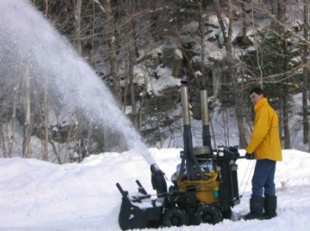 V8 Engine Powered Snowblower Really Blows