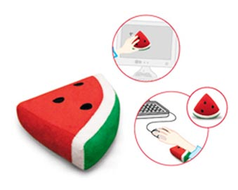 Watermelon Wrist Rest and Screen Cleaner