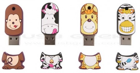 Zookeeper USB Drives are Happy Little Animals