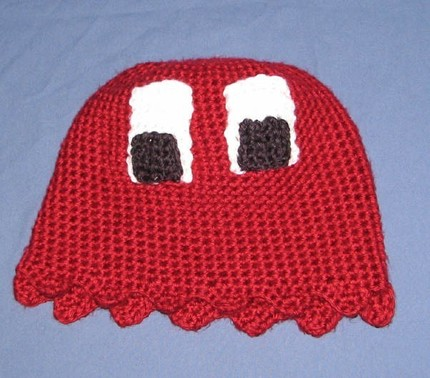 Knit Pac-man Ghost Hats