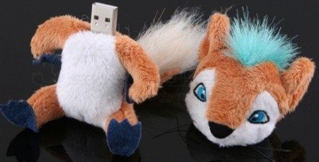 Cyber Fox USB Drive is Foxy, Until You Take His Head Off