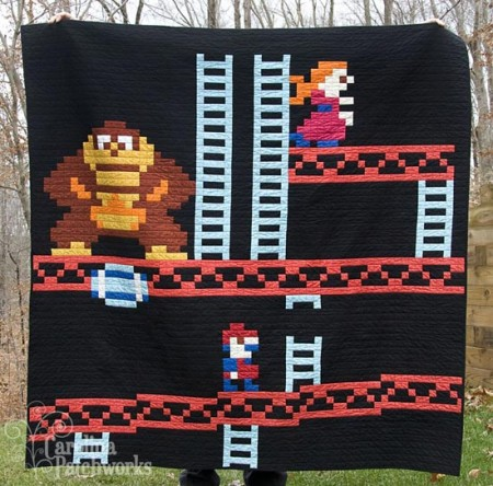 It's On (your bed) Like Donkey Kong with the DK Quilt