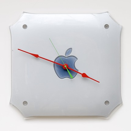Clock Made from an Apple G4 Cover