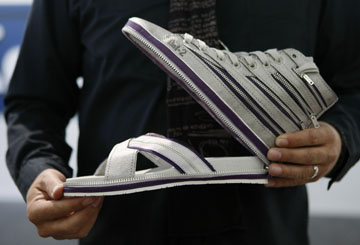 High Top Sneakers that Unzip to Become Flip Flops